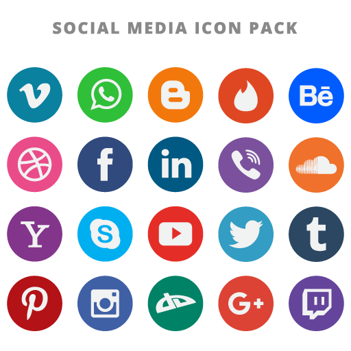 20 Free Flat Social Media Vector Icons . - Telegram Logo Vector PNG