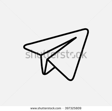 Aircraft Blue Vector Logo, JPG, JPEG, EPS Icon Button. Flat Social Media - Telegram Logo Vector PNG