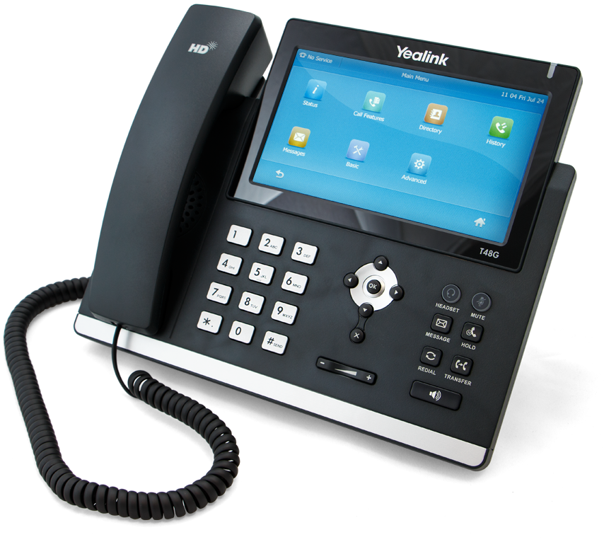 Yealink T48 IP Phone Front - Telephone PNG HD Images