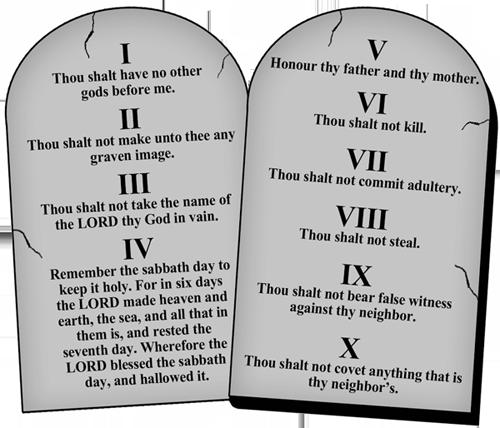 10 Commandments - Ten Commandments PNG HD