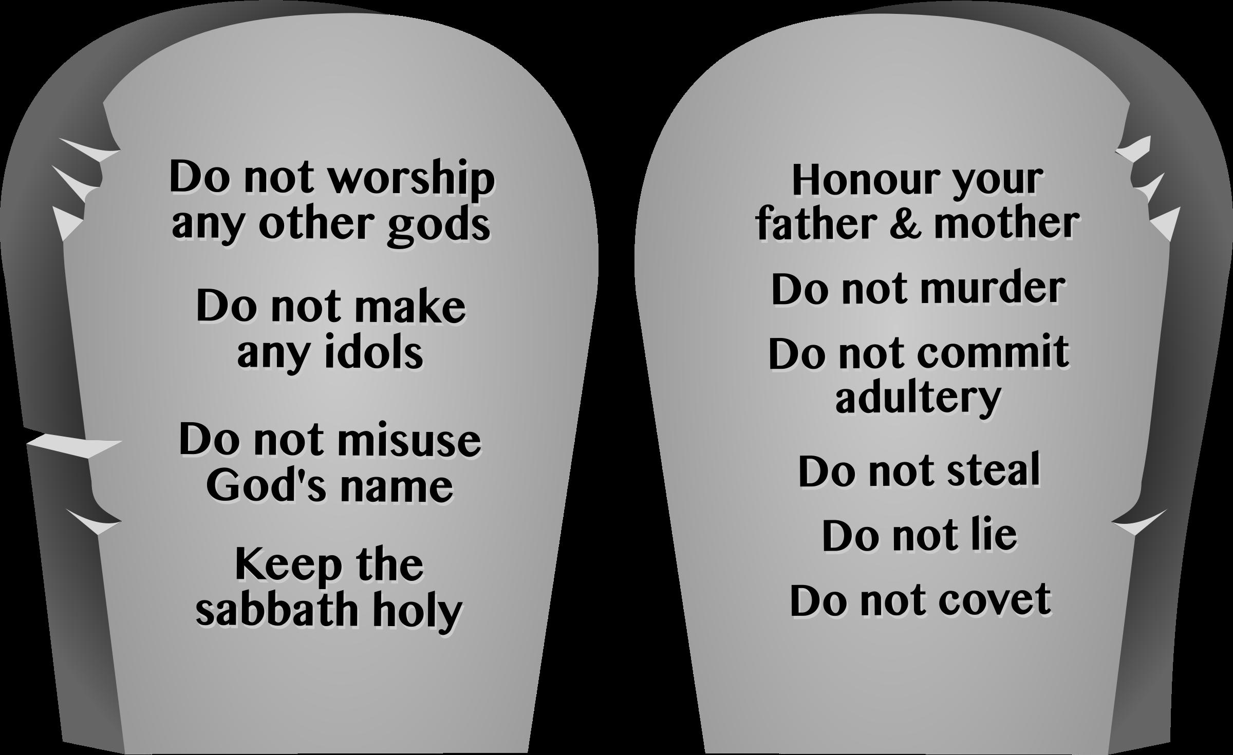 BIG IMAGE (PNG) - Ten Commandments PNG HD