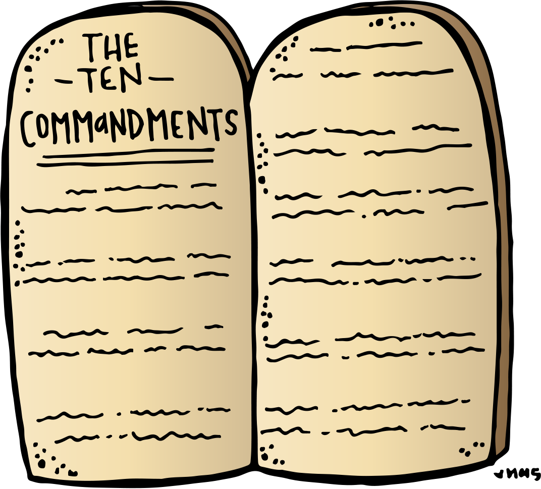 Ten Commandments Freebie :) I hope you can use these! - Ten Commandments PNG HD