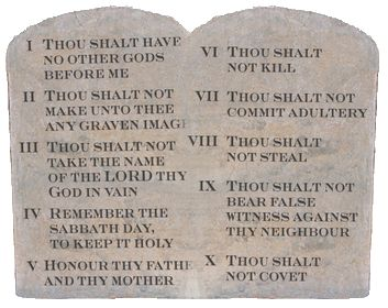 Ten Commandments Law of the Heart - Ten Commandments PNG HD