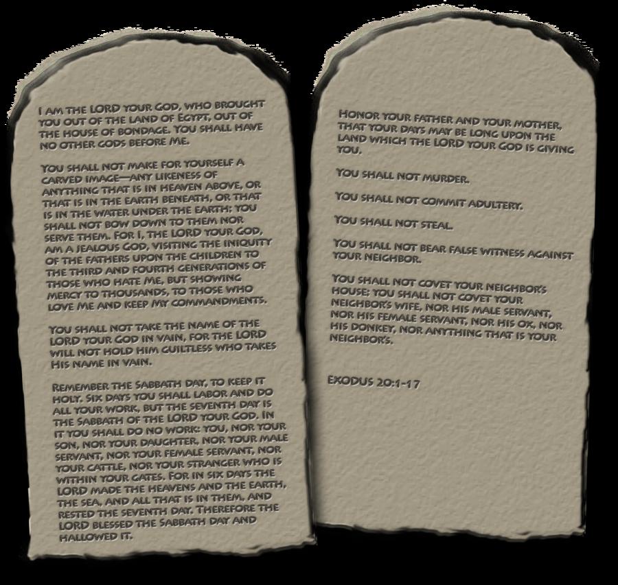 Ten Commandments PNG by madetobeunique PlusPng.com  - Ten Commandments PNG HD