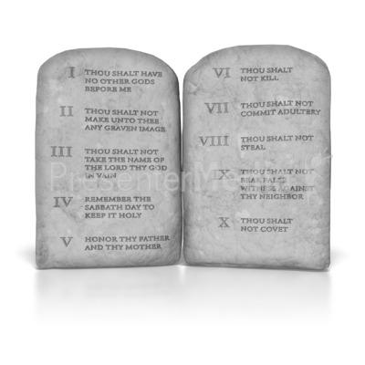 Ten Commandments PowerPoint Clip Art - Ten Commandments PNG HD