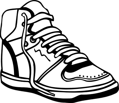 Tennis Shoe PNG Black And White