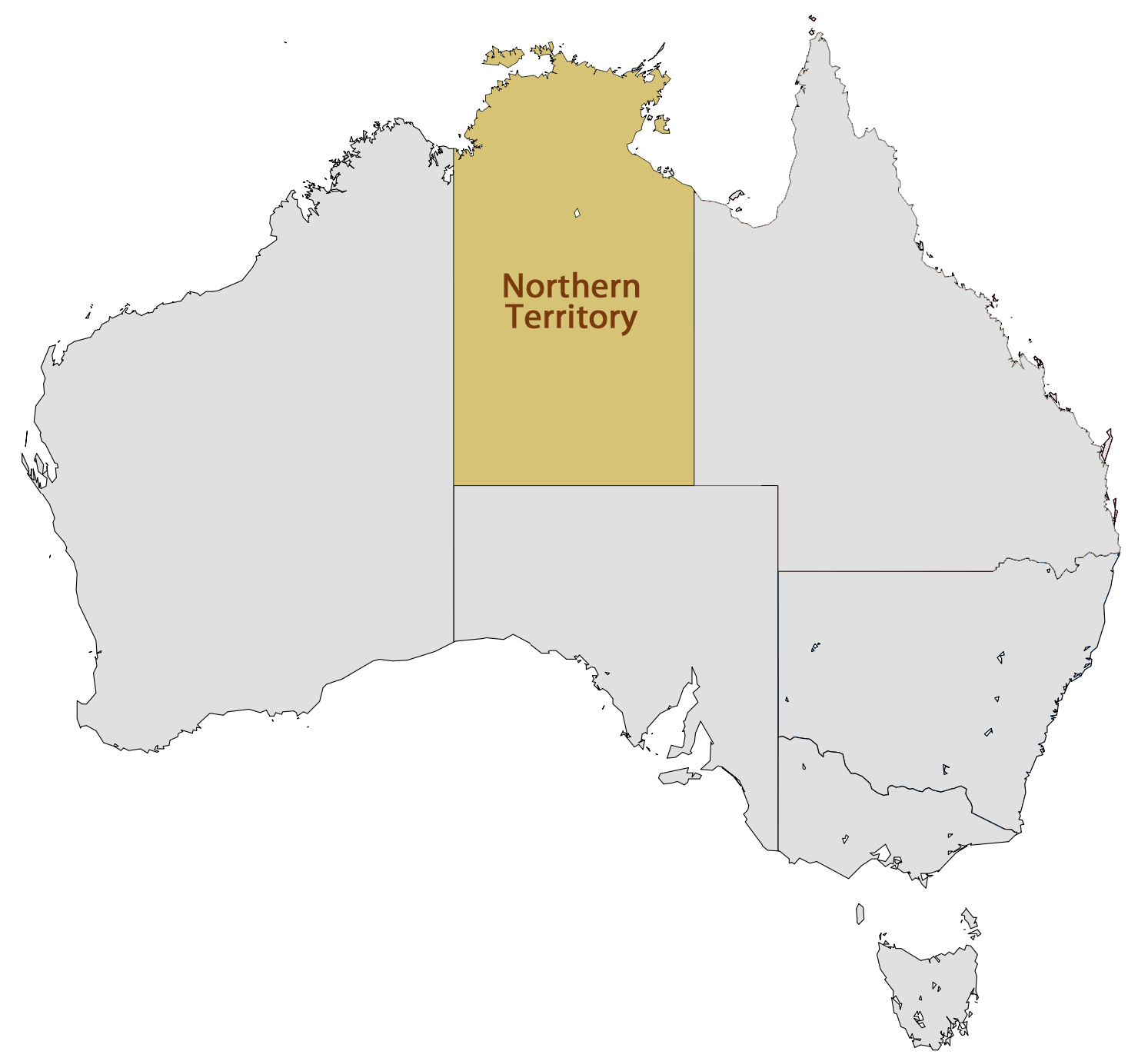 Click on the Location Map of Northern Territory PlusPng.com  - Territory PNG