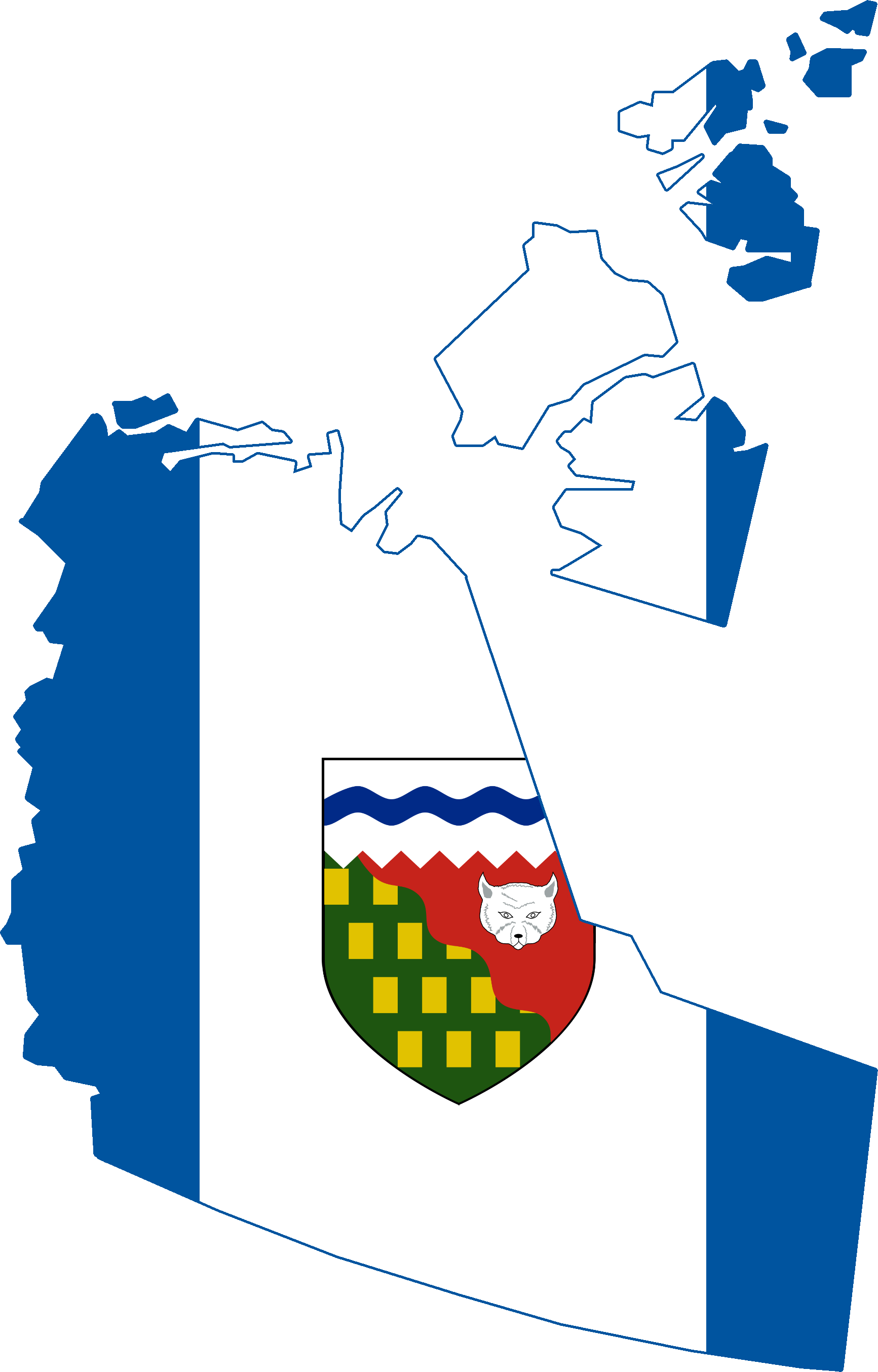 File:Flag Map of the Northwest Territories.png - Territory PNG