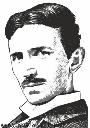 Clipart Nikola Tesla - Tesla Vector PNG