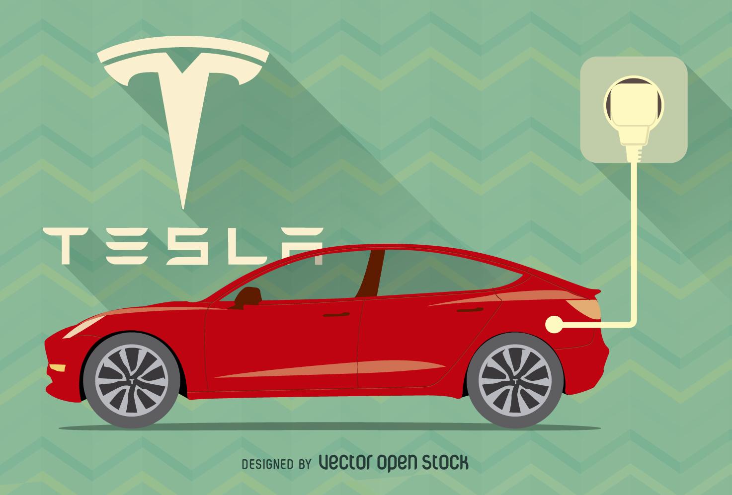 Download Large Image 1473x997px - Tesla Vector PNG