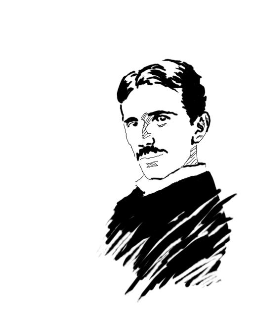 Nikola Tesla by Botan PlusPng.com  - Tesla Vector PNG