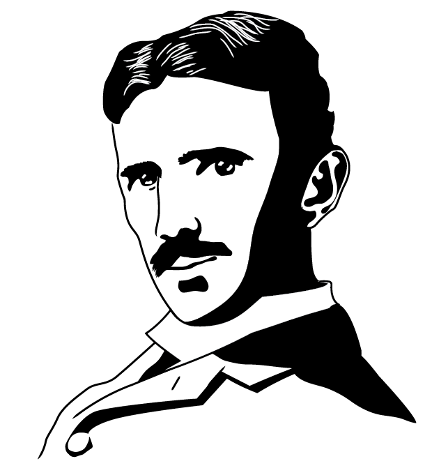Nikola Tesla by Carlitopo PlusPng.com  - Tesla Vector PNG
