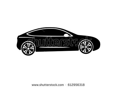 Tesla. Vector black illustration on white background - Tesla Vector PNG