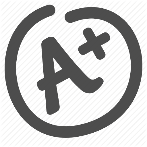 a , exam, grade, mark, test paper icon - Test Grade PNG Black And White