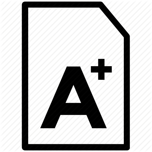 a plus grade, good grades, report card, school test, test result icon - Test Grade PNG Black And White