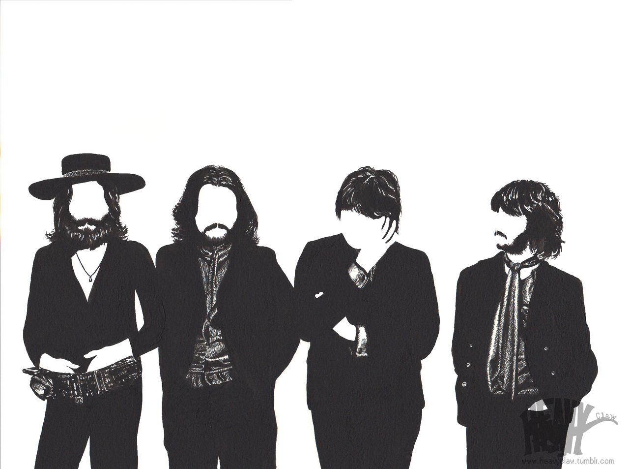 The Beatles 1969 by HeavyClaw The Beatles 1969 by HeavyClaw - The Beatles PNG