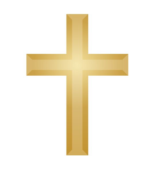 . PlusPng.com Gold Cross.png PlusPng.com  - The Cross PNG