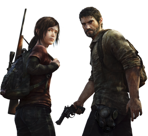 File:Joel and Ellie in The Last of Us PNG.png - The Last Of Us PNG