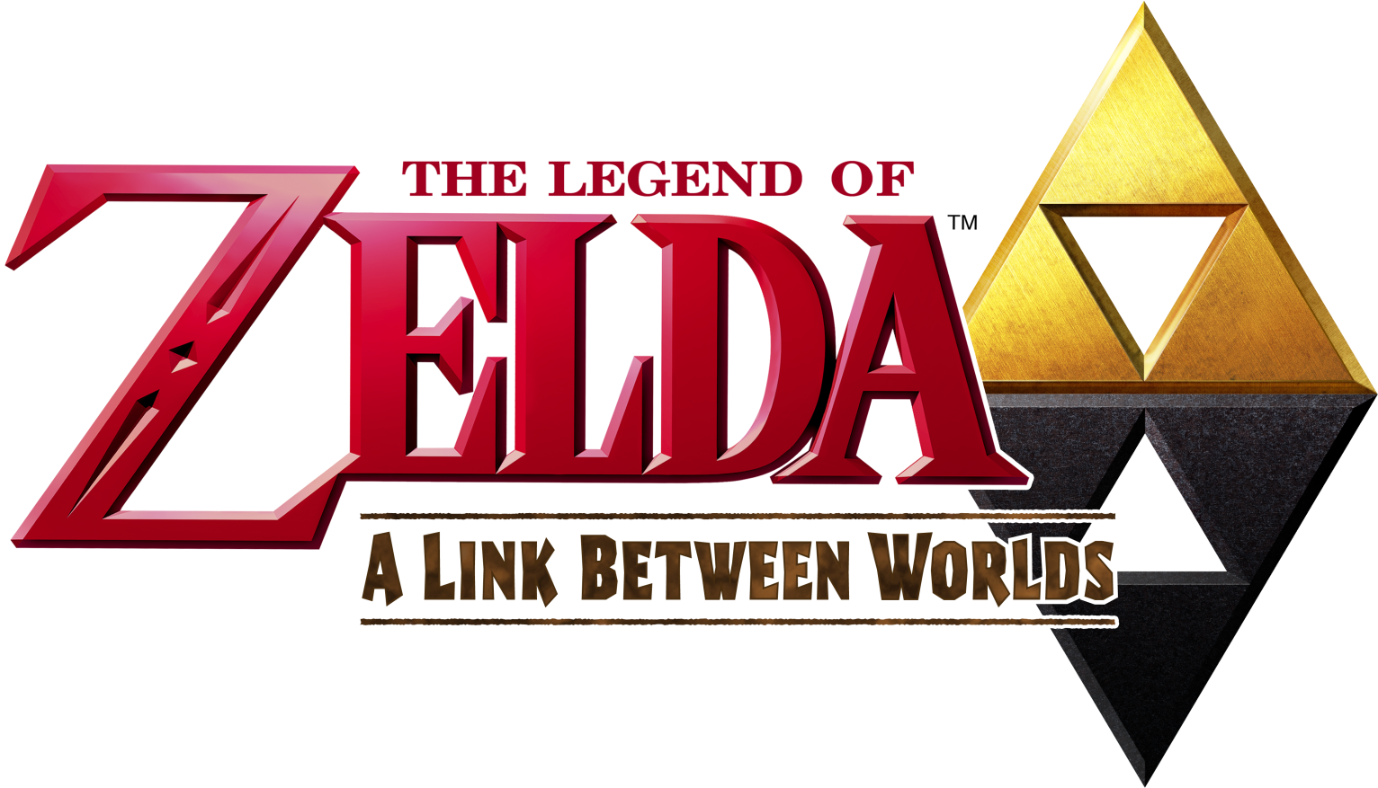 The Legend of Zelda - A Link Between Worlds (logo).png - The Legend Of Zelda PNG
