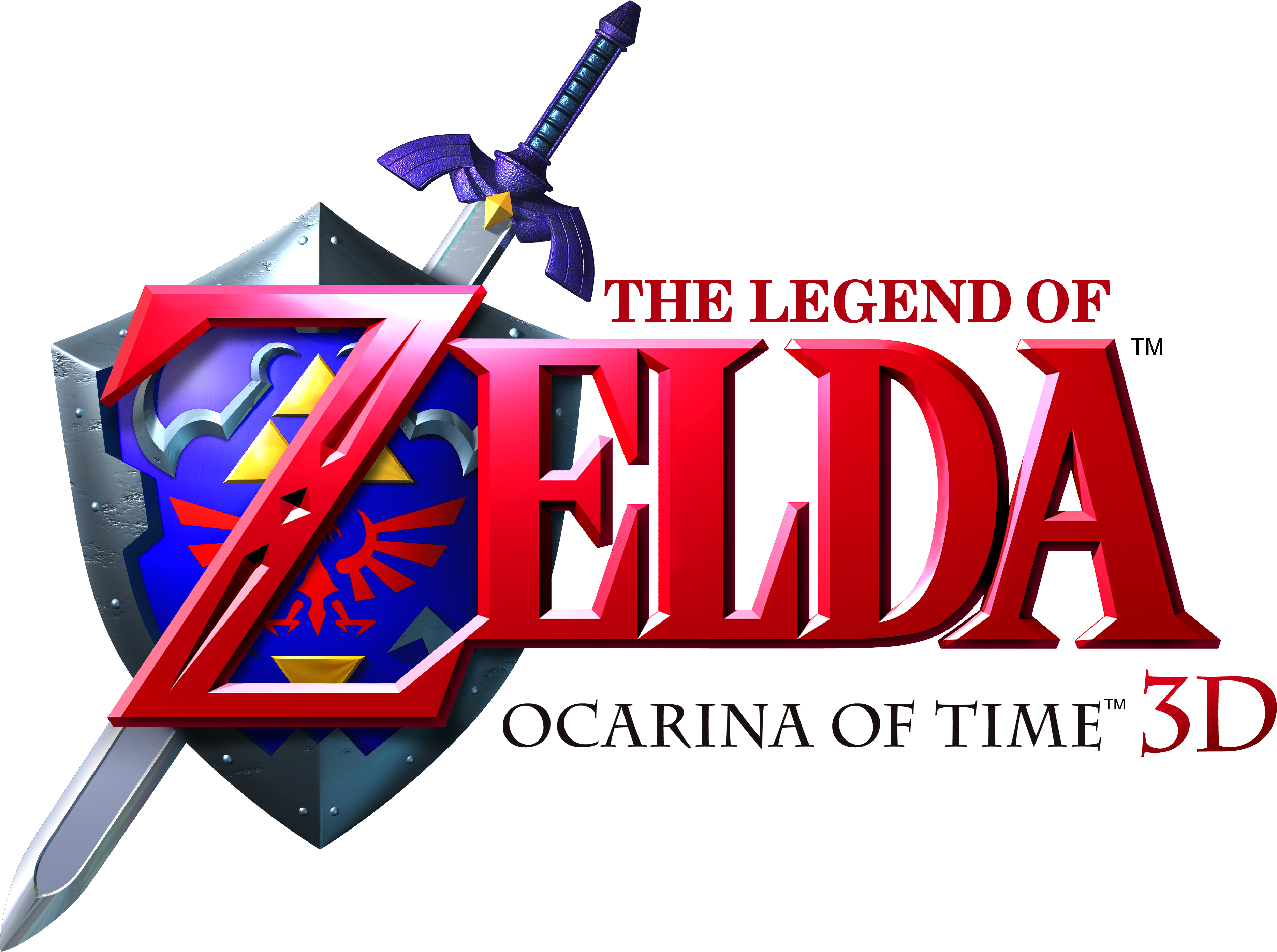 The Legend of Zelda - Ocarina of Time 3D (logo).png - The Legend Of Zelda PNG