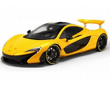 The TrueScale Minitatures 1/12 McLaren P1 2013 In Volcano Yellow is part of  the - Mclaren P PNG