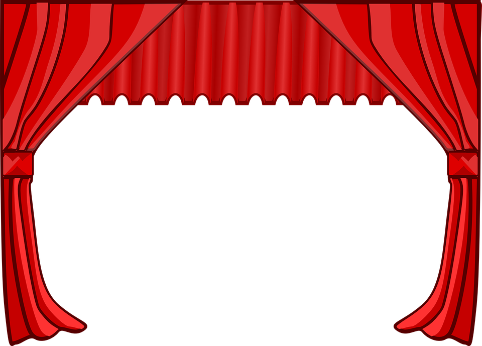 Curtain, Stage, Theater, Movies, Cinema, Red - Curtain HD PNG - Theatre PNG HD