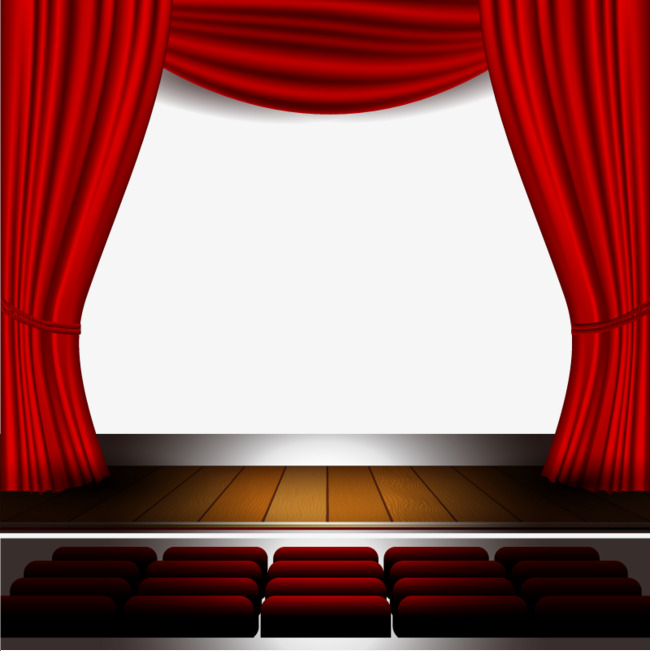 Vector Theater, HD, Vector, Large Red Curtain Free PNG and Vector - Theatre PNG HD