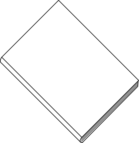Blank white book - Thin Book PNG