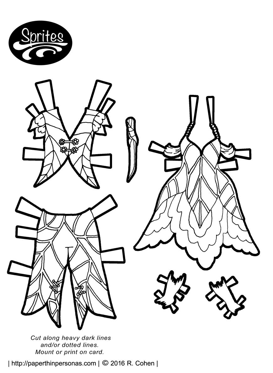 Sprites: Boy flower fairy in bu0026w / Paper Thin Personas | sprites-fairy- - Thin Boy PNG Black And White