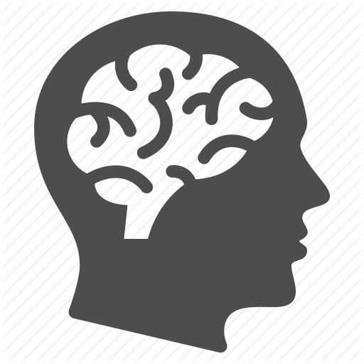 brain, education, human head, man, mind, psychology, thinking icon - - Thinking Brain PNG HD
