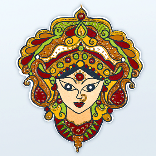 This beautiful face of Goddess Durga is sure to bring prosperity to your  home. Add - Goddess Durga Maa PNG
