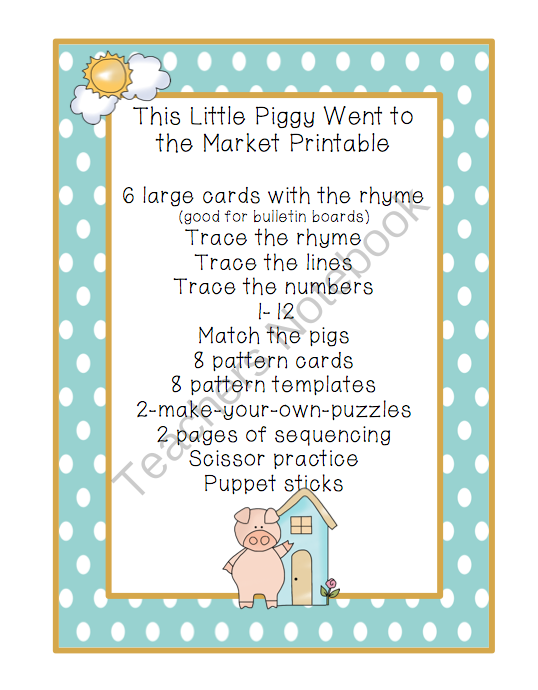 This Little Piggy Went To Market PNG - 55377