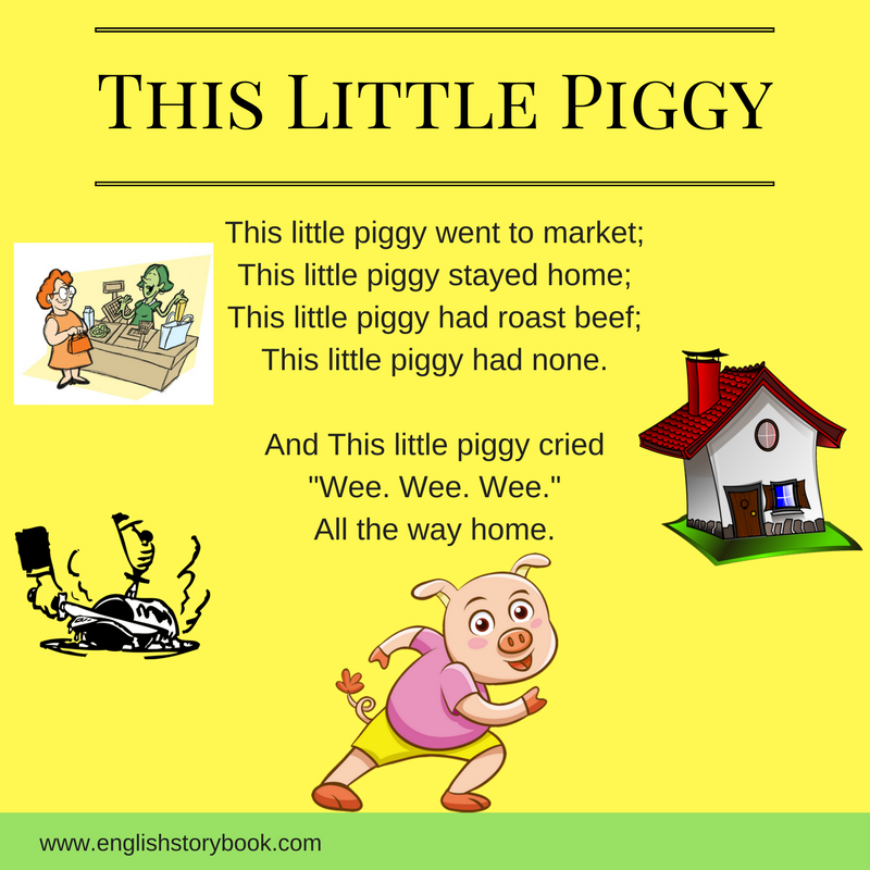 This Little Piggy Went To Market PNG - 55381