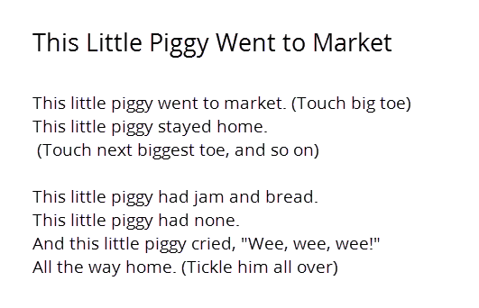 This Little Piggy Went To Market PNG - 55369