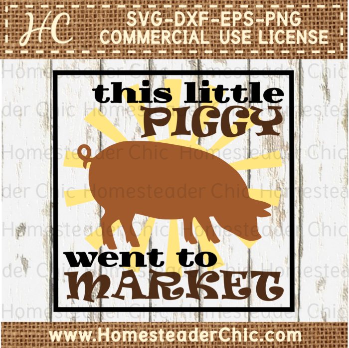 This Little Piggy Went To Market PNG - 55374