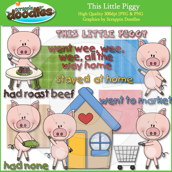 This Little Piggy Went To Market PNG - 55380