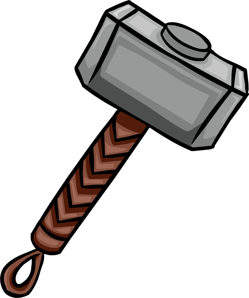 Mjolnir - Thor Hammer PNG