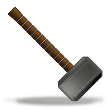 Thor Hammer icon by MediaTiger PlusPng.com  - Thor Hammer PNG