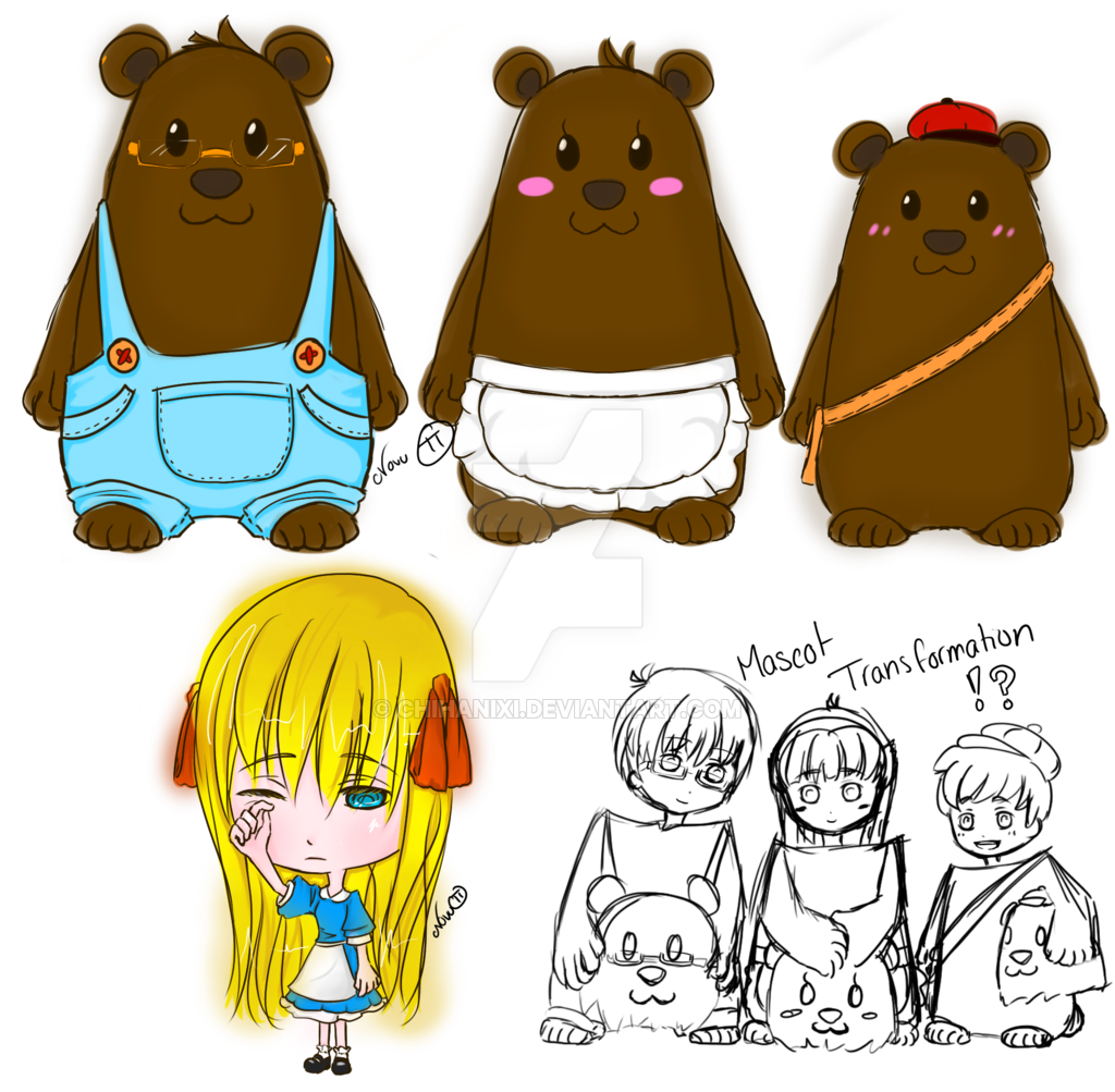 . PlusPng.com Adoptables: Goldilocks and the Three Bears by HachiTrain - Three Bears PNG