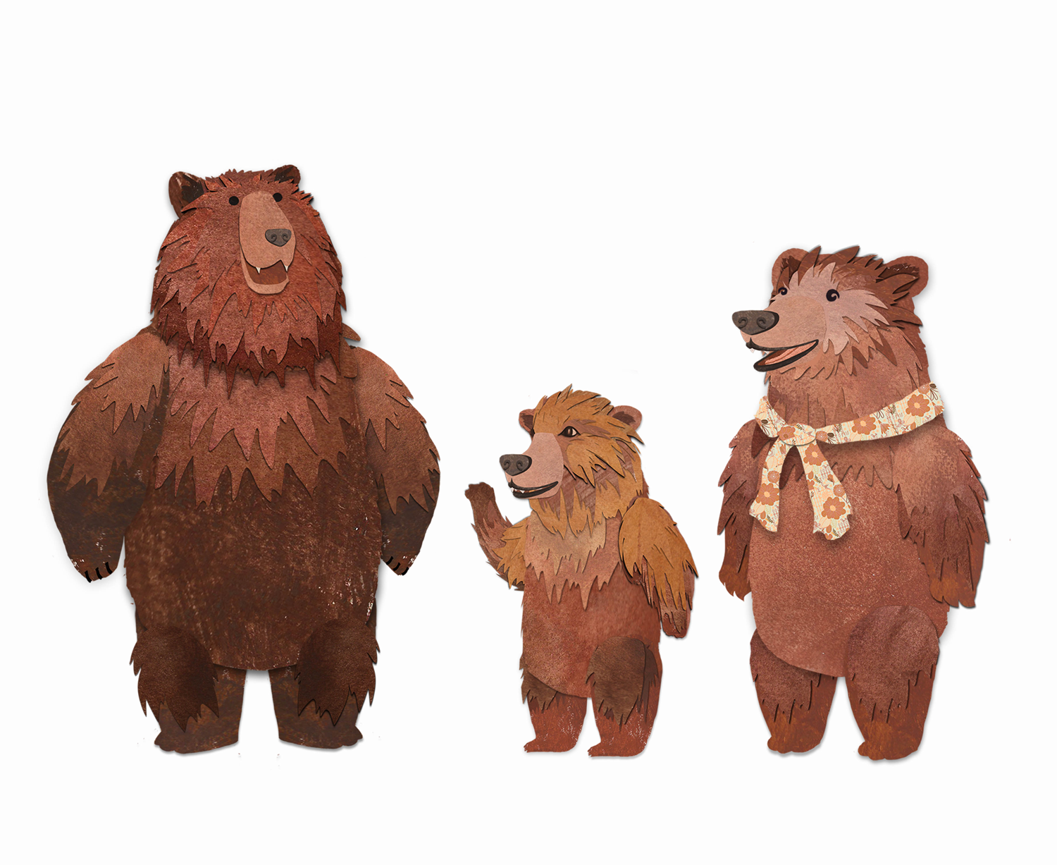 Three Bears PNG