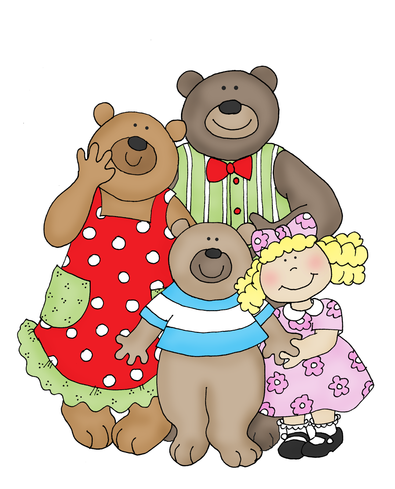 Goldilocks and the Three Bears - Three Bears PNG