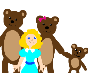 Goldilocks and the three bears are a family - Three Bears PNG