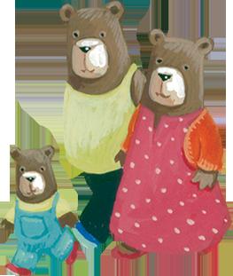 Three Bears PNG - 158316