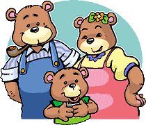 Once upon a time, there were three bears, Father Bear, Mother Bear and Baby  Bear. - Three Bears PNG