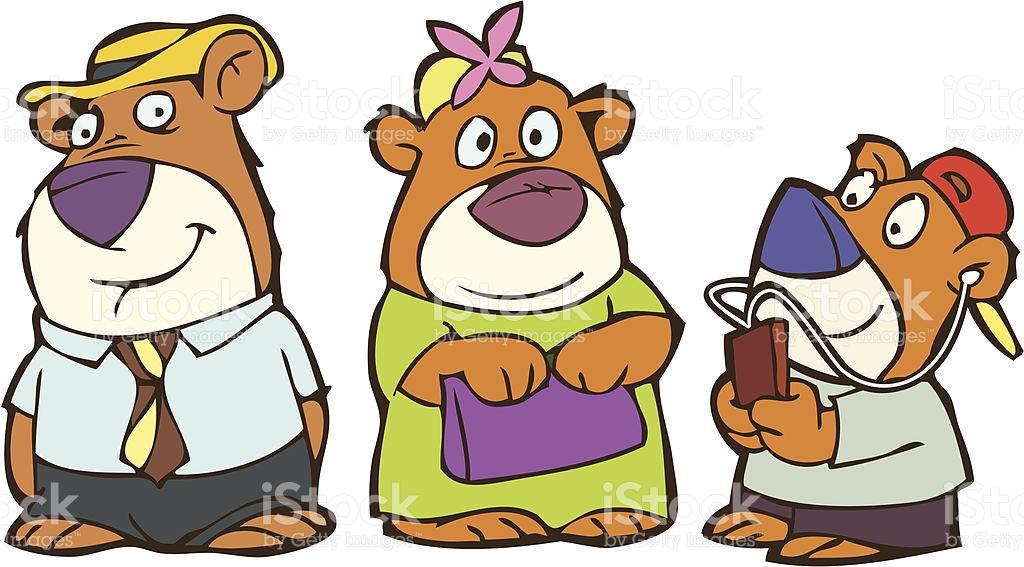 Three Bears PNG - 158311