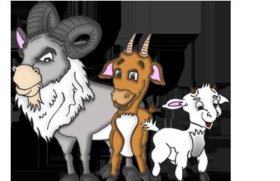 Three Billy Goats Gruff PNG - 65693
