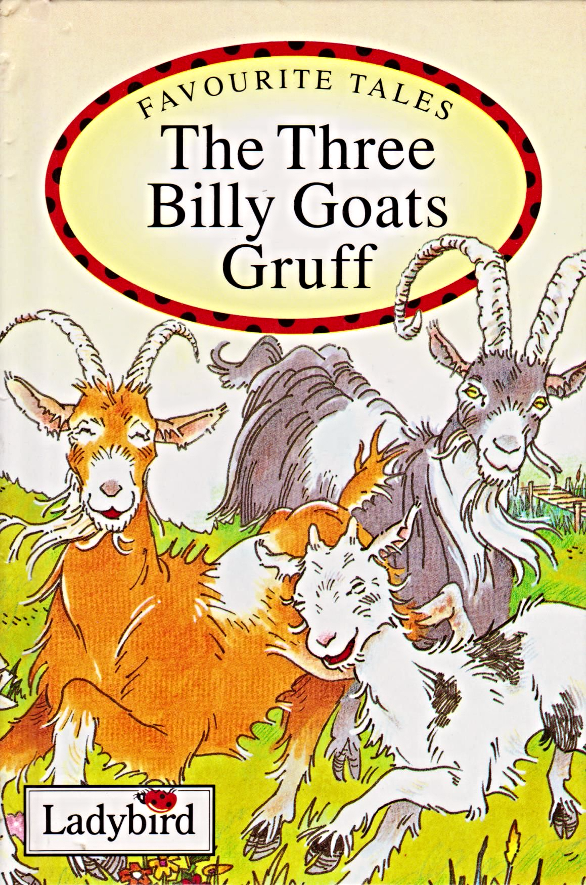THREE BILLY GOATS GRUFF Ladybird Book Favourite Tales Gloss Hardback 1993 - Three Billy Goats Gruff PNG
