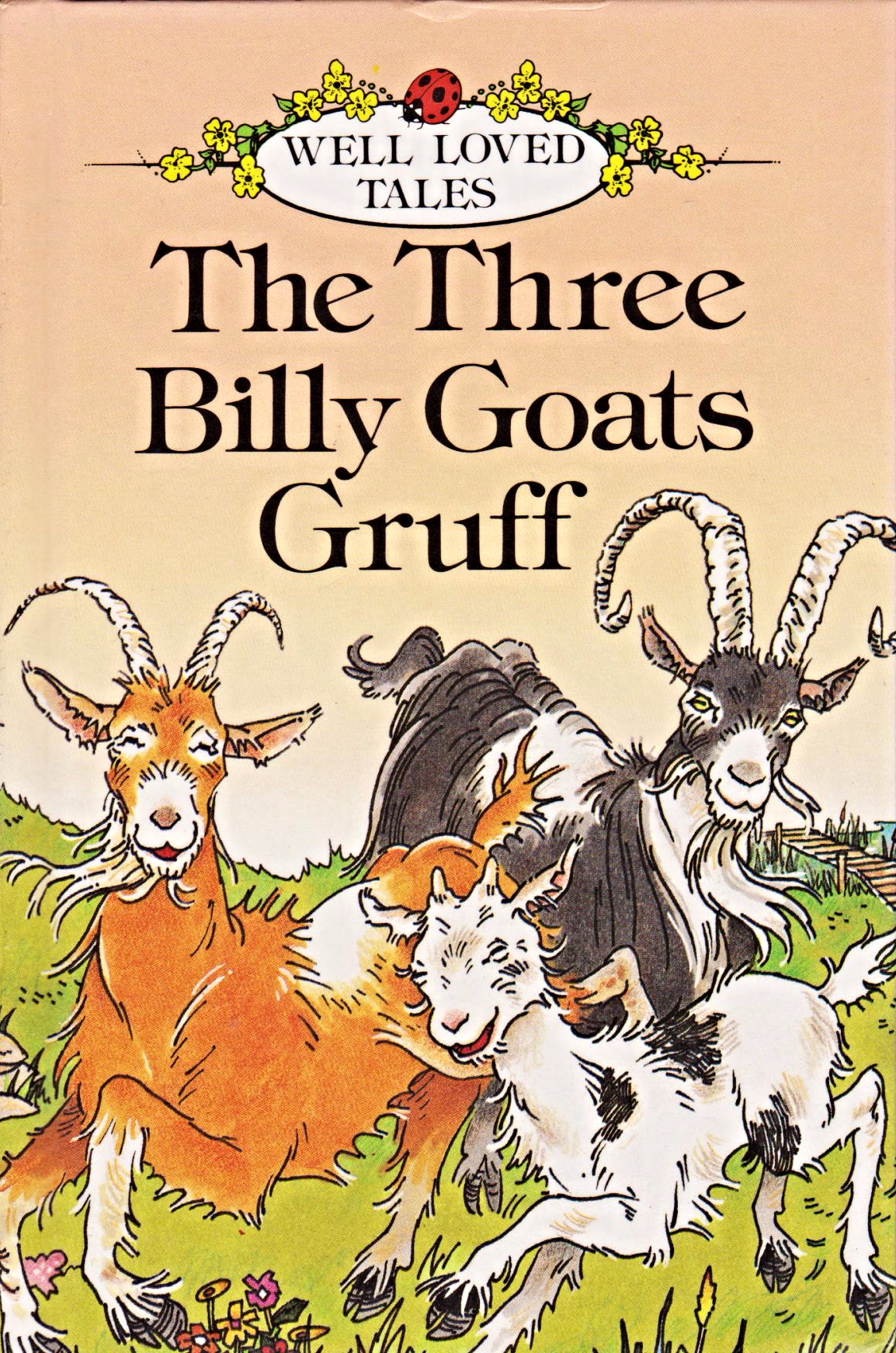 THREE BILLY GOATS GRUFF Ladybird Book Well Loved Tales Series 606D Gloss  Hardback - Three Billy Goats Gruff PNG