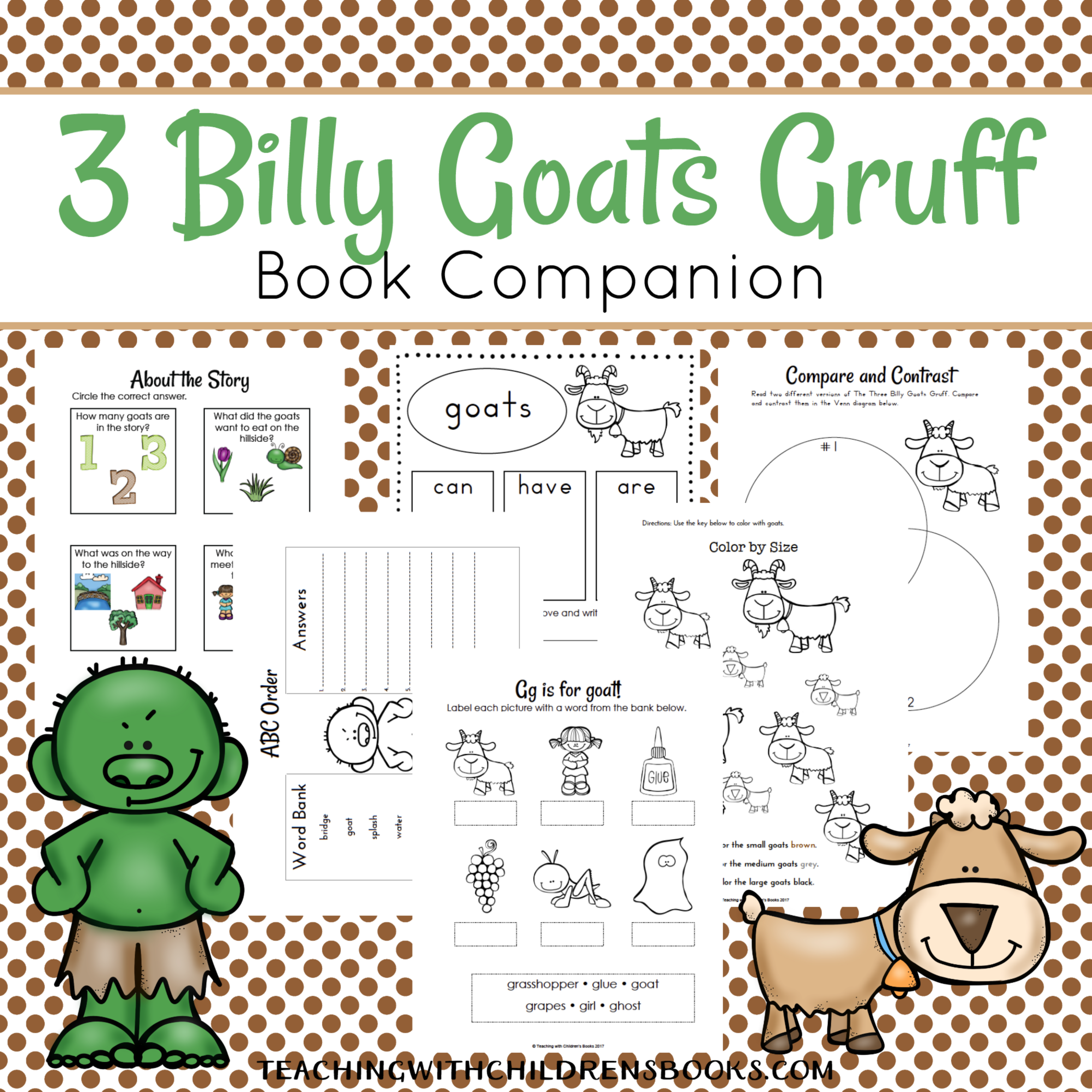 Three Billy Goats PNG-PlusPNG.com-4000 - Three Billy Goats PNG