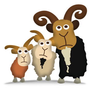 Three Billy Goats PNG